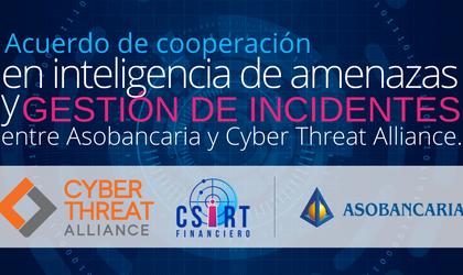 Asobancaria y Cyber Threat Alliance firman acuerdo de cooperación en inteligencia de amenazas y gestión de incidentes